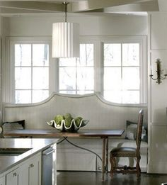 kitchens with built in banquettes | built in upholstered banquette kitchen seating with high back sofa