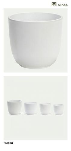 alinea :   tusca pot / cache-pot blanc mat en céramique h16xd17cm   jardin décoration du jardin cache-pots   - #Alinea #Décoration #Blanc - inspiration meubles et déco