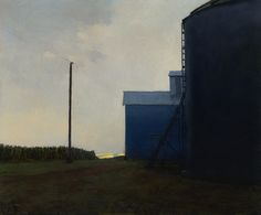 Silos, 20 x 24 inches, oil on panel Marc Bohne