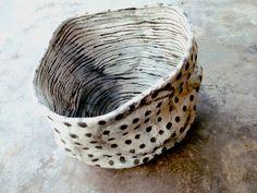 stoneware~Brenda Holzke click now for more info. Ceramic Pinch Pots, Ceramic Plates, Ceramic Pottery, Pottery Art, Slab Pottery, Ceramic Decor, Japanese Ceramics, Japanese Pottery, Chalk Design
