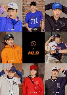 180313 #EXO @ MLB Official Website: < MLB X EXO > Exo Chen, Kpop Exo, Exo Kai, Exo Chanyeol, Kyungsoo, K Pop, Exo Group Photo, 5 Years With Exo, Exo Album
