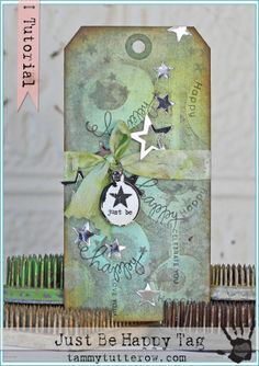Tuesday Tutorial | Just Be Happy Tag featuring NEW Simon Says Stamp!