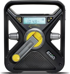 Crank Up the Campfire Tunes! Uses Both Hand Crank & Solar Charge — Eton FRX3 Radio.