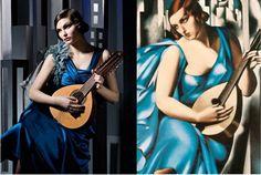 Girlwithguitar,Tamara de Lempicka,blue