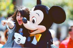 Selena - excitement at Disney