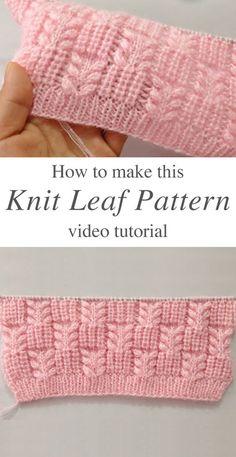 Knit Leaf Pattern You Could Learn Easily – Crochet Free Pattern - Agli - Stric. Knit Leaf Pattern You Could Learn Easily – Crochet Free Pattern - Agli - Stricken ist so einfach wie 3 Das Stricken läuft auf drei wesentliche F. Knitting Terms, Knitting Stiches, Easy Knitting, Crochet Stitches, Crochet Patterns, Knitting Ideas, Knit Crochet, Knitting Stitch Patterns, Knitting Tutorials