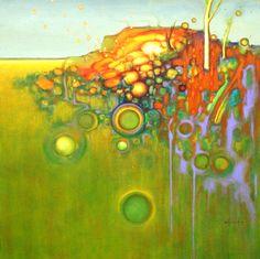 Francesco Villicich, Australian Landscape 7, 2011, oil on canvas, 90 x 90cm