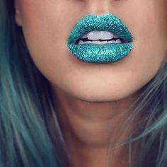 Mermaid tail lips ✨@beautybytoria wearing BLITZED + Siren fantasy glitter over top. #meltblitzed #meltcosmetics