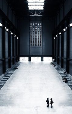 The world-renowned Tate Modern in London, England. The gallery is actually based in what used to be a power station.