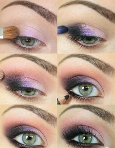 Grape eye shadow smokey eye