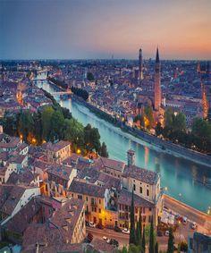 Sunset in Verona Italy
