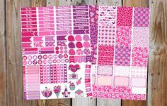 SALE  Erin Condren Planner Stickers Valentine by GraceDesignsStore