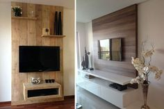 | La televisión suspendida en la decoración de interiores