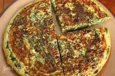 Light Spinach and Feta Frittata | Skinnytaste