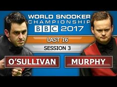 Ronnie O'Sullivan v Shaun Murphy ᴴᴰ World Snooker Championship 2017 L16 Session 3 - YouTube