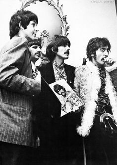 Sgts Pepper Paul, Ringo, George and John (l to r)