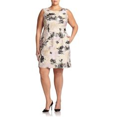 Lafayette 148 New York, Plus Size Evelyn Printed Sheath Dress ($335) ❤ liked on Polyvore featuring plus size fashion, plus size clothing, plus size dresses, apparel & accessories, ash multi, plus size, scoopneck dress, lafayette 148 new york, princess seam dress and women plus size dresses