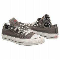 Amazon.com: CONVERSE Women's All Star Lo Double (Charcoal/White Polka 7.0 M): Shoes