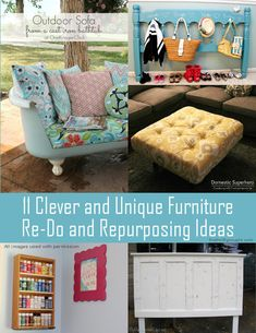 11 Clever and Unique Furniture Re-Do and Repurposing Ideas