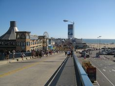 Looking down into the pier