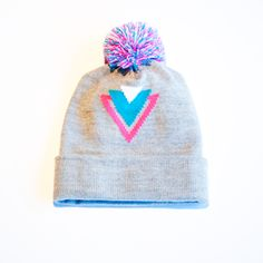 110545a0a8e The Vice in Pacific Beanie. Knit beanie with teal