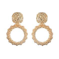35fde31e8 Round Vintage Earrings for women gold color big earrings 2018 fashion  jewellery statement earings modern trendy