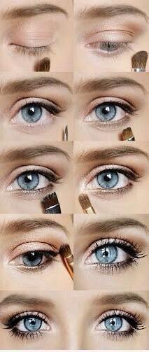 step trucco occhi soft -