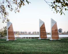 Félix Guyon propõe mobiliário urbano em homenagem aos fundadores de Verchères,© Félix Guyon, via v2com newswire