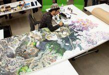 Jedinú maľbu na obrovskom plátne tvoril 10 hodín denne po dobu 3 a pol roka!