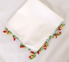 Vintage White Napkin With OyaCottonSet of 6 by PDSHOP on Etsy, $18.90