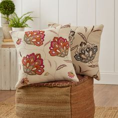 Found it at Wayfair - Odette Embroidered Felt Pillow Cover