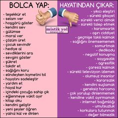 BUY BOLCA: – thank you – say hello – show tolerance – love yourself – smile – give morale – come up with a solution – the child is happy – buy a gift – call your loved ones – show your love – be thankful – appreciate … The Words, Cool Words, Motivation Sentences, Learn Turkish Language, Happiness Challenge, Acne Scar Removal, Study Notes, Positive Life, Kids Education