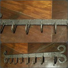 Forged scarf hanger