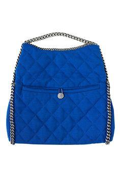 Accessories col fashion: blue bag chain handle Chanel