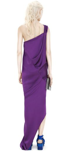 ACNE STUDIOS Tezla Dbl Silk Purple