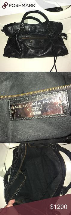 Balenciaga Classic City Handbag AUTHENTIC Balenciaga Classic City bag in black. Purchased directly from Balenciaga. Worn very lightly (I typically wear a huge backpack so this bag spent most of its life in my closet). No dustbag. Comes with little mirror (not pictured). Balenciaga Bags