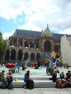 La fontaine Stravinsky de  Niki de Saint-Phalle à Beaubourg -
