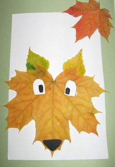 What activities with autumn leaves for kindergarten children? Cute Crafts, Diy Crafts For Kids, Thanksgiving Crafts For Kids, Toddler Crafts, Diy Projection Screen, Leaf Animals, Leaf Crafts, Autumn Activities, Children Activities
