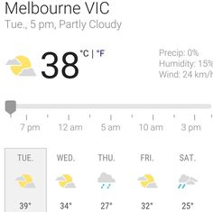 After working all day in the cool of my home here l go out for meetings and it's 38 #WhatThe #melbourneweather
