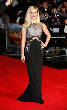 Reese Witherspoon stunned on the red carpet in London for the premiere of Wild on Monday.