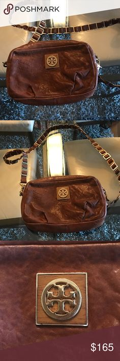 Suede Leather Tory Burch Crossbody Purse Gorgeous soft leather purse with gold logo accents and long Crossbody strap. So necessary! Tory Burch Bags Crossbody Bags