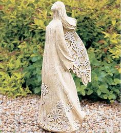 Garden art, statues, fountains and gazing balls add your special touch to the landscape. Stone sculpture, metal art and garden stakes offer lots of variety. Stone Sculpture, Garden Sculpture, Pottery Angels, Clay Angel, Angel Drawing, Ceramic Angels, My Guardian Angel, Angels Among Us, Angels In Heaven