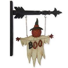 Boo Ghost Arrow Sign
