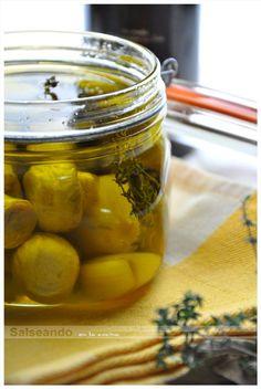Salseando en la cocina: Conserva de champiñones en aceite de oliva