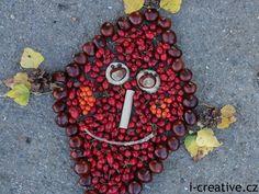 drak z podzimních plodů Autumn Activities For Kids, Handicraft, Drake, Fall, Nature, Fruit, Learning, Style, Basteln