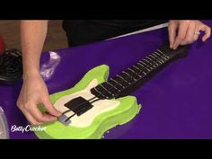How To Make an Electric Guitar Shaped Birthday Cake with Betty Crocker - YouTube