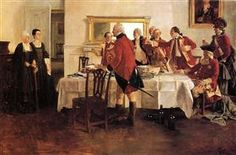 Red Coat Soldiers Toasting the Ladies of the House - Howard Pyle