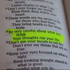 Awesome bible quote, and this is very true for me! My mind gets the best of me sometimes.
