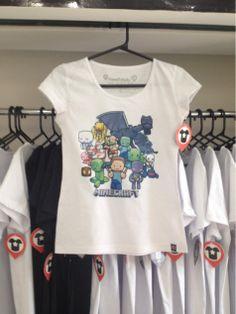 Camisetas com estampas do Minecraft e outros games!   Facebook.com/planetshirts