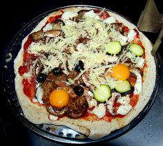 Breakfast Pizza from the BBQ Grill (or the oven)